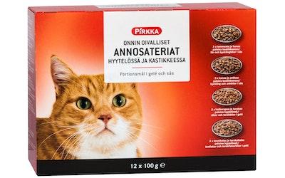 Pirkka Onnin oivalliset annosateriat hyytelössä ja kastikkeessa 12x100g