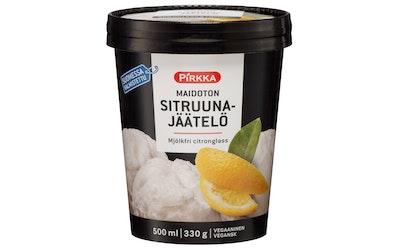Pirkka maidoton sitruunajäätelö 500ml/330g
