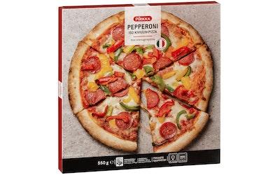 Pirkka Pepperoni iso kiviuunipizza 550g pakaste