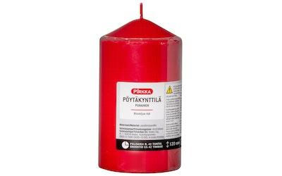 Pirkka pöytäkynttilä punainen 120mmx67mm