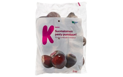 K-Menu suomalainen pesty punajuuri 2kg