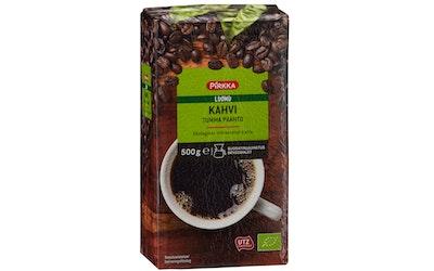 Pirkka Luomu kahvi tumma paahto 500g UTZ suodatinjauhatus