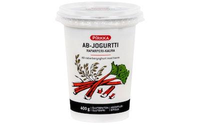 Pirkka AB-jogurtti raparperi-kaura 400g