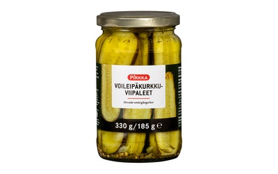 Pirkka voileipäkurkkuviipaleet 330g/185g