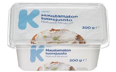 K-Menu maustamaton tuorejuusto 300g