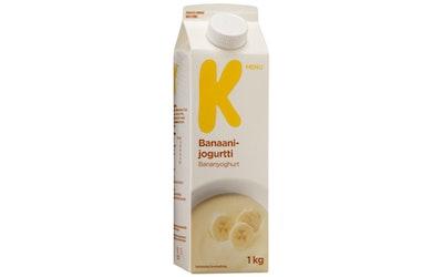 K-Menu banaanijogurtti 1 kg
