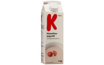 K-Menu mansikkajogurtti 1kg