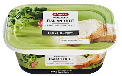 Pirkka tuorejuusto Italian yrtit 180g laktoositon