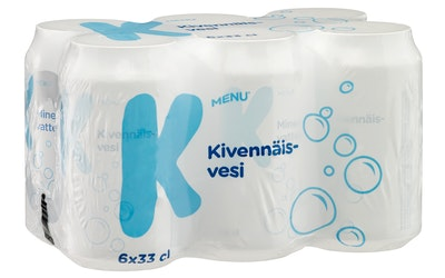 K-Menu kivennäisvesi 0,33l 6-pack