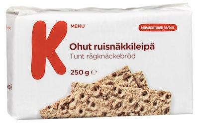 K-Menu ohut ruisnäkkileipä 250 g