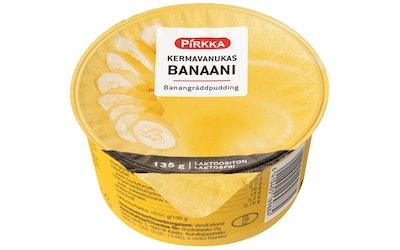 Pirkka kermavanukas banaani 135g laktoositon