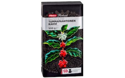 Pirkka Parhaat Master Blend Tummapaahtoinen kahvi 500g UTZ suodatinjauhatus - kuva