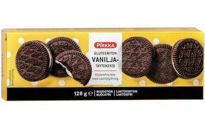 Pirkka gluteeniton vaniljatäytekeksi 128g
