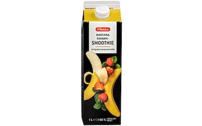 Pirkka mansikka-banaanismoothie 1l