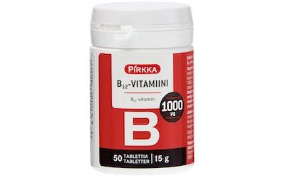 Pirkka B12-vitamiini 1000µg 50 kpl/15g