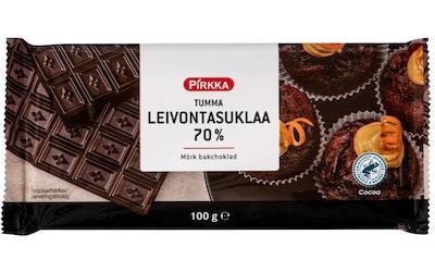 Pirkka tumma leivontasuklaa 70% 100g UTZ
