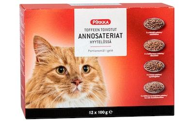Pirkka Toffeen toivotut annosateriat hyytelössä 12x100g