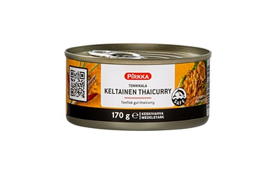 Pirkka tonnikala keltainen thaicurry 170g