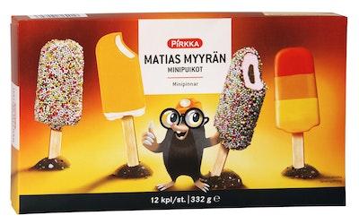 Pirkka Matias Myyrän minipuikot 12kpl/332g