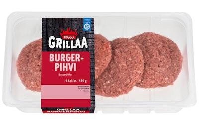 Pirkka suomalainen burgerpihvi 4kpl/480g