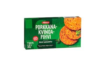 Pirkka porkkana-kvinoapihvi 4kpl/240g pakaste