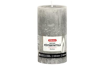 Pirkka rustiikki pöytäkynttilä vaaleanharmaa 130mmx68mm n. 54h