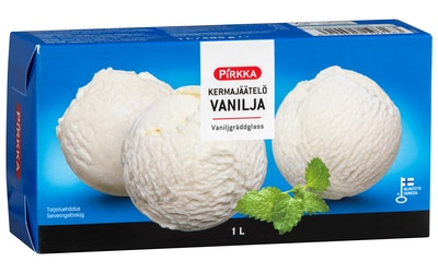 Pirkka kermajäätelö vanilja 1L