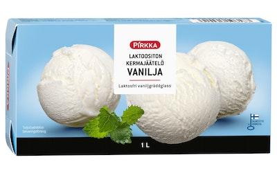 Pirkka laktoositon kermajäätelö vanilja 1l