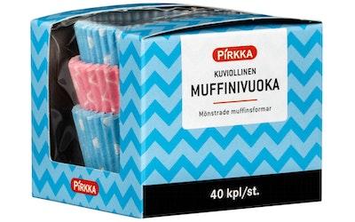 Pirkka kuviollinen muffinivuoka 40kpl