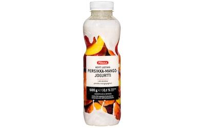 Pirkka kevyt juotava persikka-mangojogurtti 500g