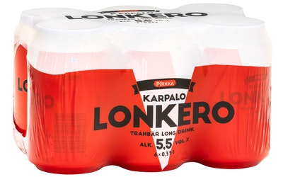 Pirkka karpalolonkero 5,5% 0,33l 6-pack