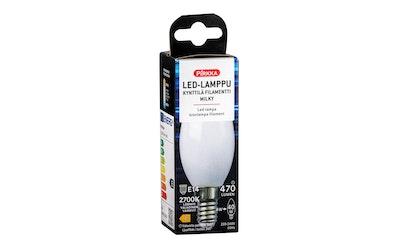 Pirkka led-lamppu kynttilä E14 4,6W 470lm filamentti frosted