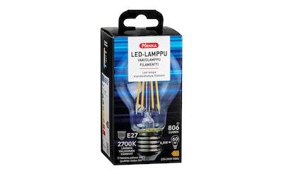 Pirkka led vakiolamppu E27 7W 806lm filamentti