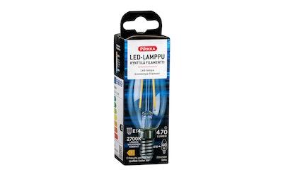 Pirkka led-lamppu kynttilä E14 4W 470lm filamentti