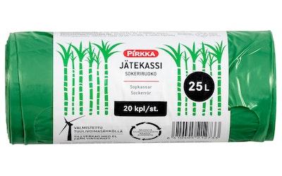 Pirkka jätekassi sokeriruoko 25l/20kpl
