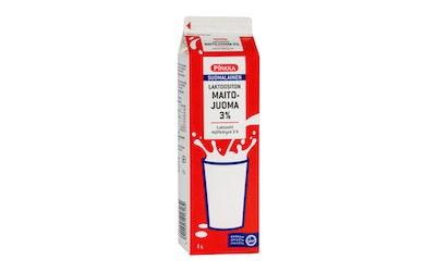 Pirkka suomalainen laktoositon maitojuoma 3 % 1l