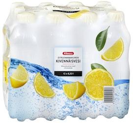 Pirkka sitruunanmakuinen kivennäisvesi 0,33l 12-pack