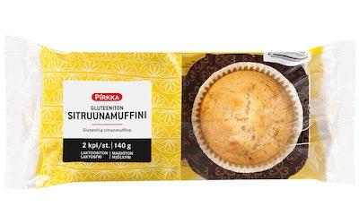 Pirkka gluteeniton sitruunamuffini 2kpl/140g