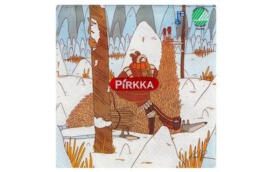 Pirkka lautasliina 20kpl/33cm alpakan selässä by Kaisa Ranta