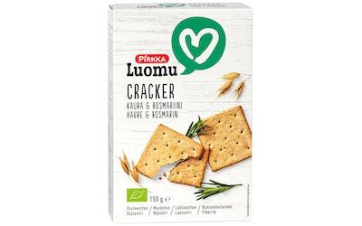 Pirkka Luomu cracker kaura & rosmariini 150g