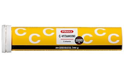 Pirkka C-vitamiini 1000mg 20kpl/80g