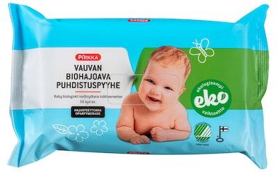 Pirkka vauvan biohajoava puhdistuspyyhe 56kpl