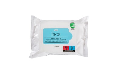 Pirkka Face hajusteeton puhdistuspyyhe kasvoille 30 kpl - kuva