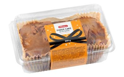 Pirkka fudge cake salted caramel 350g