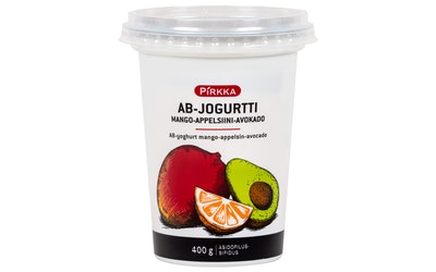 Pirkka AB-jogurtti mango-appelsiini-avokado 400g