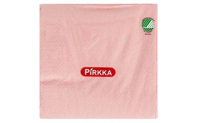 Pirkka lautasliina 60kpl 24cm vaaleanpunainen