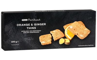 Pirkka Parhaat orange ginger thins 100g