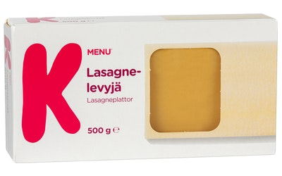 K-Menu lasagnelevyjä 500g