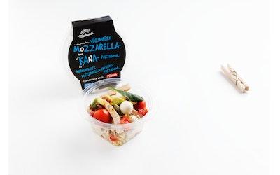 Pirkka Helposti mukaan Välimeren mozzarella-kanapastabowl 195g