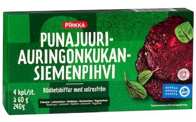 Pirkka punajuuri-auringonkukansiemenpihvi 4kpl/240g pakaste